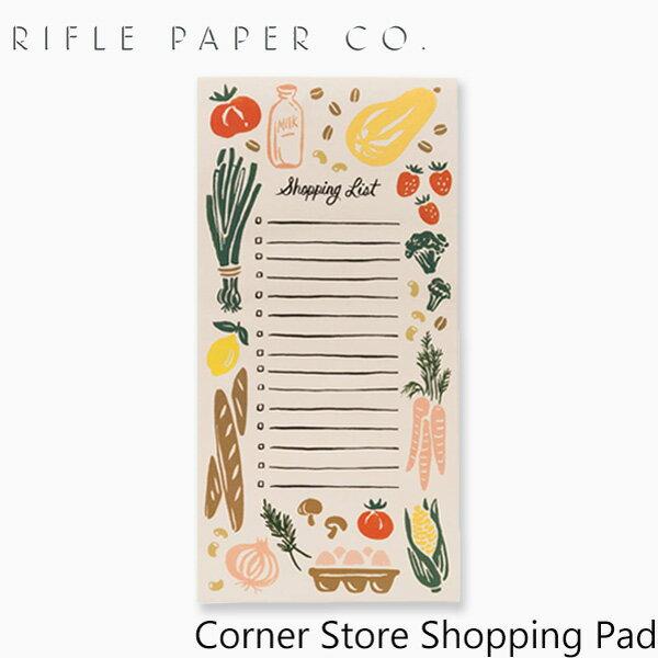 ライフルペーパー ノートパッド コーナーストア ショッピングパッド FLRIFLE PAPER CO. Corner Store Shopping Padブランド デザイナーズ メモ帳 USA アメリカ NPS011ギフト プレゼント
