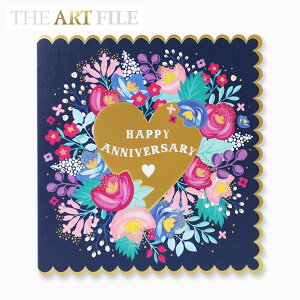 THE ART FILE GREETING CARD HAPPY ANNIVERSARY ブランド デザイナーズ カード