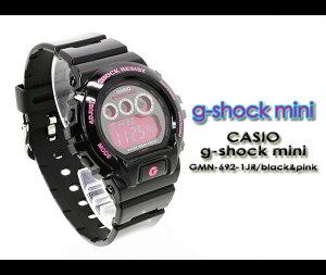 CASIO/G-SHOCKmini【カシオジーショックミニ】腕時計GMN-692-1JR/black&pink【h-point100423】