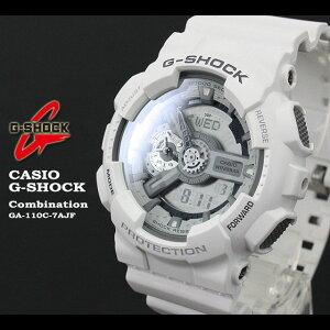 ★送料無料★CASIO/G-SHOCK/g-shock【カシオジーショック】【コンビネーションモデル】腕時計GA-110C-7AJF/mattewhite【smtb-TK】