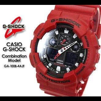 ★ ★ CASIO/G-SHOCK/G shock G-shock Combination Model GA-100B-4AJF/red watch