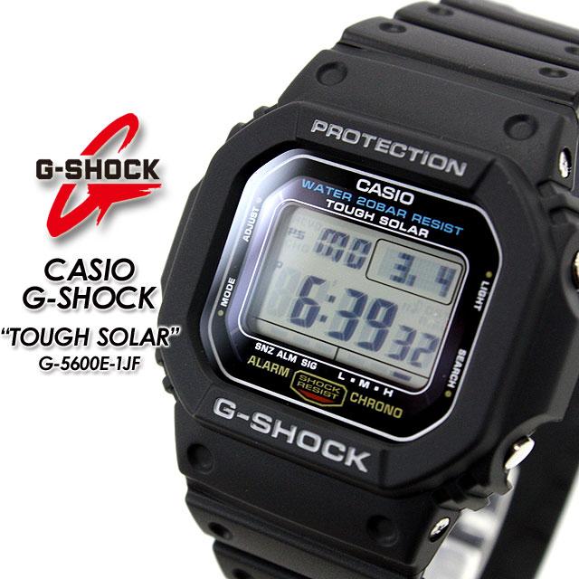腕時計, メンズ腕時計 G- G G-5600E-1JF CASIOG-SHOCKg-shock g G G TOUGH SOLAR