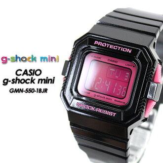 CASIO/G-SHOCK/G shock G- shock G- shock mini g-shock mini women GMN-550-1BJR/black/pink [attributive quality] Lady's [fs01gm]
