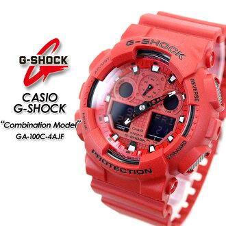 ★ domestic genuine ★ ★ ★ CASIO g-shock combination model watch / GA-100C-4AJF g-shock g shock G shock G-shock