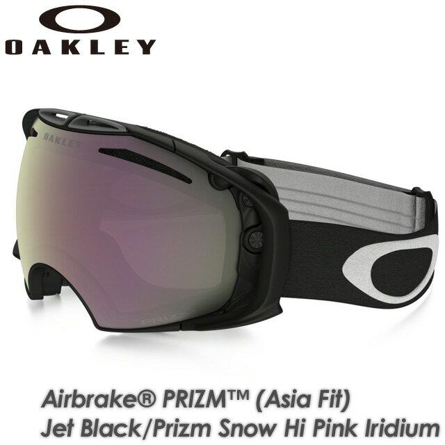 【OAKLEY】オークリー 【AIRBRAKE PRIZM (Asia Fit)】エアブレイク Jet Black/Prizm Snow Hi Pink Iridium OO7073-04 ゴーグル スキー スノーボード:SPRAY