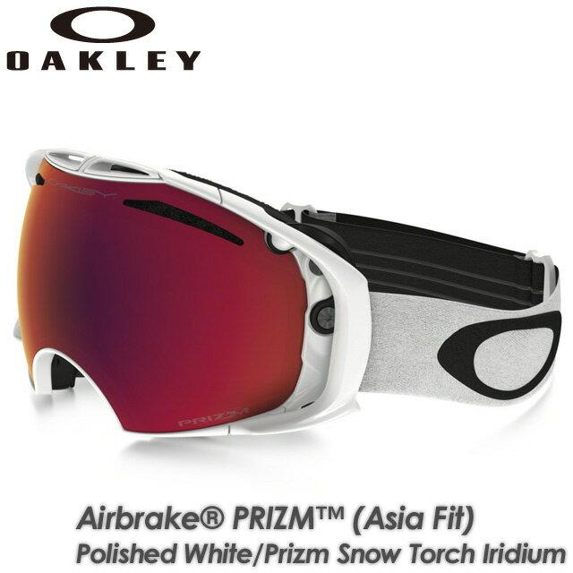 【OAKLEY】オークリー 【AIRBRAKE PRIZM (Asia Fit)】エアブレイク Polished White/Prizm Snow Torch Iridium OO7073-05 ゴーグル スキー スノーボード:SPRAY