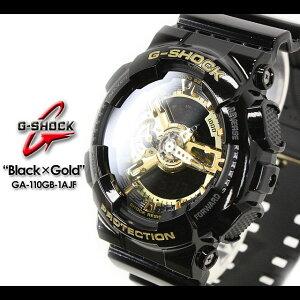 ★送料無料★CASIO/G-SHOCK/g-shockgショックGショックG−ショック【カシオジーショック】【Black×GoldSeries】ブラック×ゴールドシリーズ腕時計/GA-110GB-1AJF/black×gold【smtb-TK】