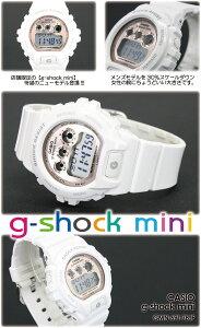 CASIO/G-SHOCKmini【カシオジーショック】【G-ショックミニ】女性用腕時計GMN-690-7BJF/white/pink