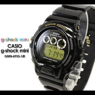 CASIO/G-SHOCK/G shock G- shock G- shock mini g-shock mini for women Watch GMN-691G-1JR/black Lady's [fs01gm]