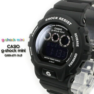 ★人気商品★CASIO/G-SHOCKMINI/g-shockmini【カシオジーショックミニ】腕時計GMN-691-1AJF1/matteblack
