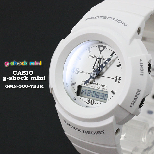 CASIO G-SHOCK white G- g-shock mini GMN-500-7BJR...
