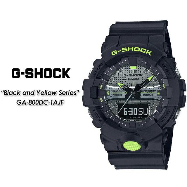 腕時計, メンズ腕時計 G- G GA-800DC-1AJF Black and Yellow SeriesCASIO G-SHOCK