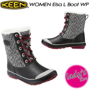 キーン【KEEN】WOMEN Elsa L Boot WP【エルサ エル ブーツ ウォータープルーフ】女性用 トレッキング 防水 ウィンターブーツ スノーブーツ アウトドア レディース 1015636