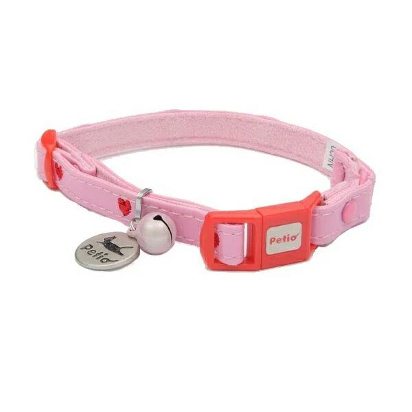 ペティオ CAT COLLAR ハートレザーカラー ピンク 猫用 首輪