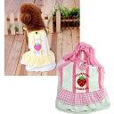 いちごワンピース 3号 4号 5号 (M・L・XL) イエロー・ピンク 小型犬用 犬服 イチゴ 2L