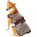 ペティオ あったか着るブランケット M ブラウン 小型犬〜中...