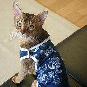 Simplers 和柄が魅力的な ランニングキャット SS S L 2L レッド・ブルー 猫服 タンクトップ