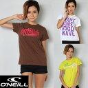 【レディースTシャツ】O'NEILL(オニール)レディースティシャツ/ホワイト・ブラウン・ライム【送料無料】※沖縄・離島等を除く【人気ブランド激安セール】