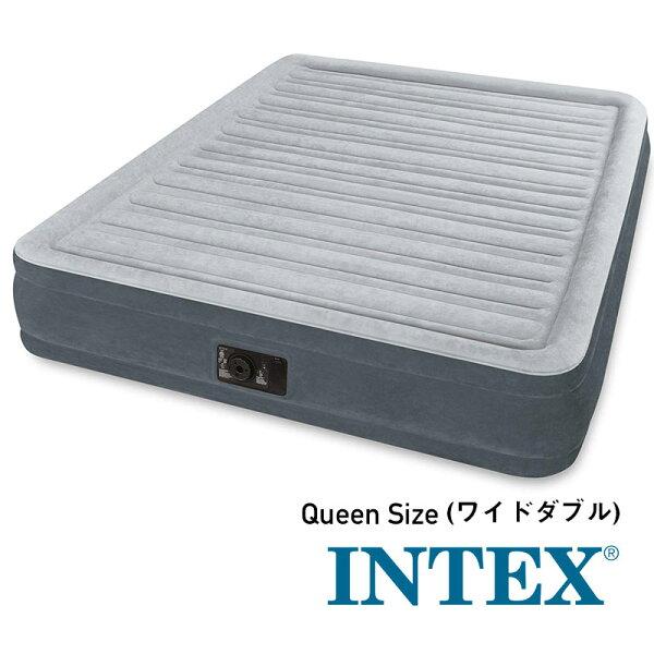 ■正規販売店U-67769/67769INTEX(インテックス)エアーベッド203×152×33cmQUEENワイドダブル電動ポ
