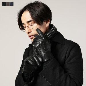 手袋 メンズ グローブ レザー 本革 羊革 導電革 スマートフォン対応 プレゼント ブラック ネイビー ブラウン