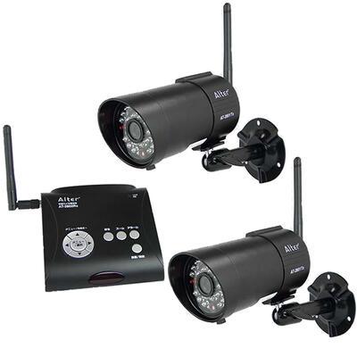 メーカー在庫限りCARROT SYSTEMSキャロットシステムズ17-7642 オルタプラス録画一体型 防水・防塵 デジタル無線カメラAT-2800と増設カメラAT-2801TxのセットAT-2800SET 4560270960863:スパート