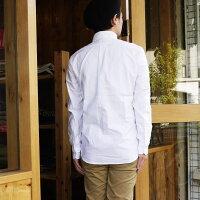 ManualAlphabetマニュアルアルファベット長袖シャツメンズオックスフォードシャツオックスシャツ無地ボタンダウンシャツ白ホワイトカジュアルキレイ目日本製MADEINJAPAN定番人気商品1(S)2(M)3(L)4(XL)サイズブランド通販人気BASIC-MK-032