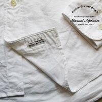 ManualAlphabetマニュアルアルファベット売れ筋長袖シャツメンズオックスフォードオックスシャツ無地ボタンダウンシャツ白ホワイトカジュアルキレイ目日本製MADEINJAPAN定番人気商品1(S)2(M)3(L)サイズ