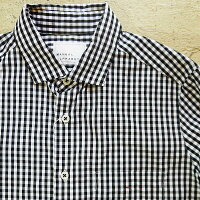 ManualAlphabetマニュアルアルファベットギンガムチェックシャツレディースブロードシャツギンガムシャツシャツ柄シャツギンガム柄ネイビーブラックシャツ長袖シャツブラウス服デザインおしゃれかわいいファッション通販TNE-BASIC-008