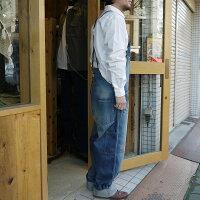 Johnbullジョンブルオーバーオールデニムパンツオールインワンメンズ日本製アウターボトムスワーク系ジーパンジーンズユーズド加工作業服アメカジ人気売れ筋生地綿コットン100%あおブルーかわいいおすすめ人気服衣装サロペット
