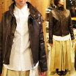 JOHNBULL ジョンブル ダブルライダージャケット レザージャケット 革ジャン アウター レディース シープレザー しなやか やわらか岡山 児島 カジュアル ドレス ビジネスジャンパー AH017 アメカジ ブラウン ライダースジャケット Sサイズ Mサイズ