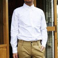 ManualAlphabetマニュアルアルファベット長袖シャツメンズオックスフォードシャツオックスシャツ無地ボタンダウンシャツ白ホワイトカジュアルキレイ目日本製MADEINJAPAN定番人気商品売れ筋1(S)2(M)3(L)サイズブランド通販人気BASIC-MK-003