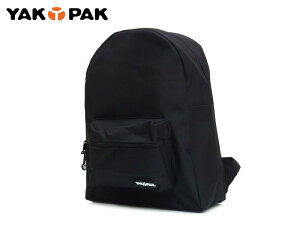 ☆YAKPAK【ヤックパック】#5001 STUDENT BACK PACK SOLID BLACK スチューデント バックパック ブラック 8201 [リュック バックパック 遠足 通学 黒] 10P01Mar15 【MFS0301】