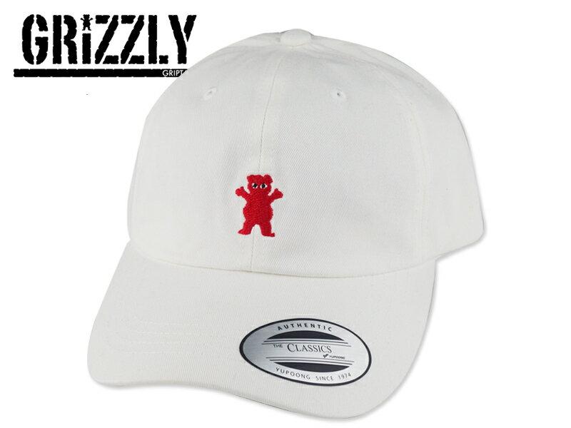 メンズ帽子, キャップ GRIZZLYPUDWILL BEAR DAD HAT WHITE 16823