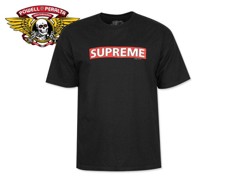 トップス, Tシャツ・カットソー POWELL PERALTASupreme T-SHIRTS BLACK T 17629 SKATE SK8 SUPREME10P30Nov14