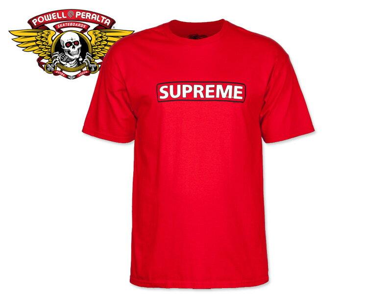 トップス, Tシャツ・カットソー POWELL PERALTASupreme T-SHIRTS RED T 17629 SKATE SK8 SUPREME10P30Nov14