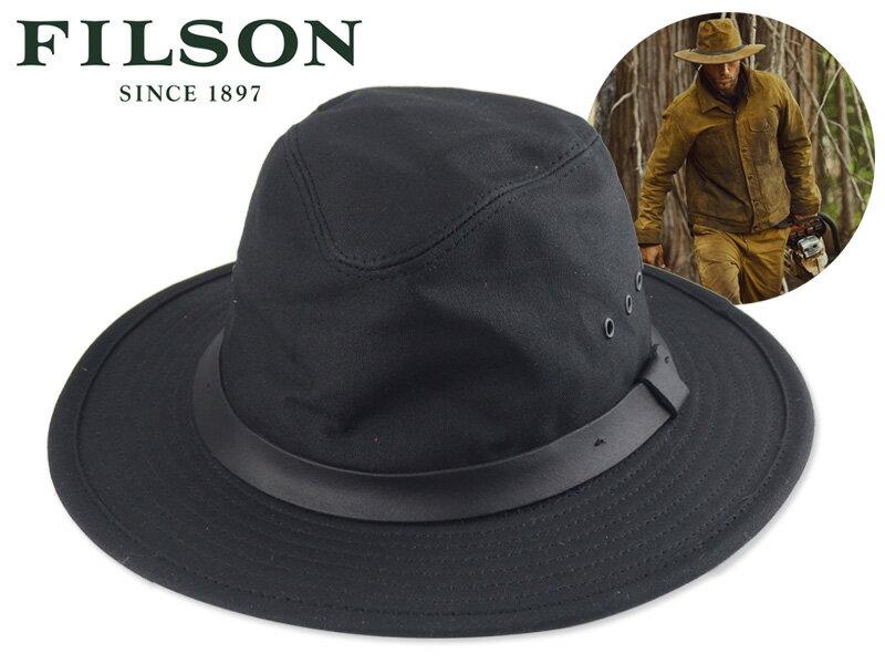 メンズ帽子, ハット FILSONTIN CLOTH PACKER HAT BLACK 17884 OUTDOOR