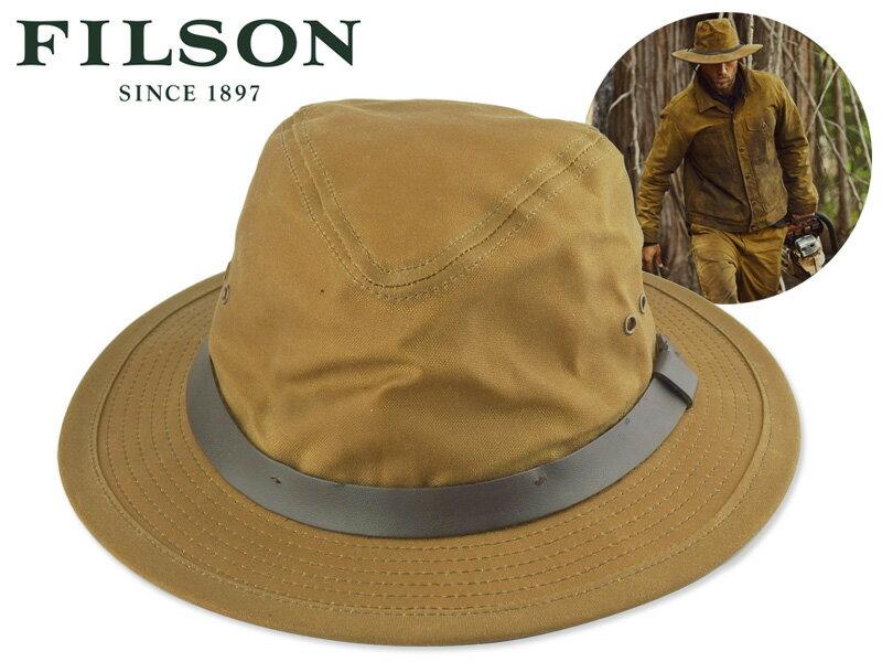 メンズ帽子, ハット FILSONTIN CLOTH PACKER HAT DARK TAN 17884 OUTDOOR