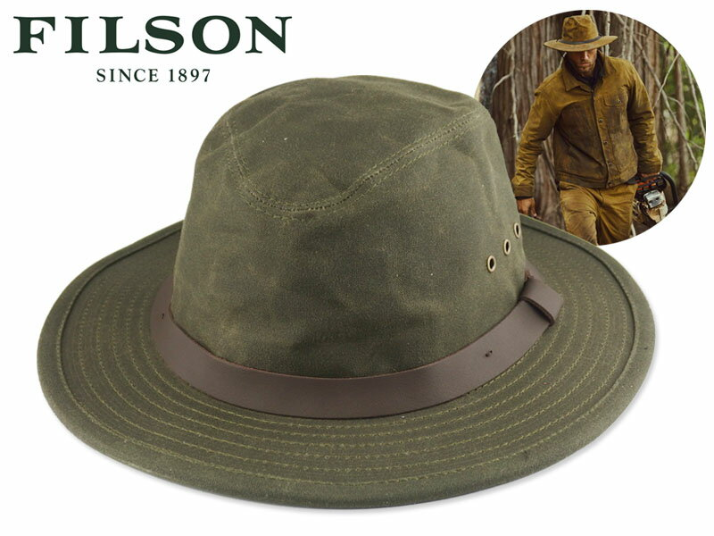 メンズ帽子, ハット FILSONTIN CLOTH PACKER HAT OTTER GREEN 17884 OUTDOOR