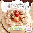 生チョコクリーム デコレーションケーキ 5号【送料無料】バースデーケーキ チョコレートケーキ[凍]誕生日ケーキお誕生日ケーキ 誕生日 バースデー ケーキ ホールケーキ 子供 かわいい