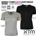 【送料無料】【ML006】XTMレディースインナーシャツクルーネック丸首tシャツ半袖メリノウールライト(170g/m2)MERINO WOOLスキースノーボードスポーツトレッキング登山山歩きキャンプアウトドア 05P07Feb16
