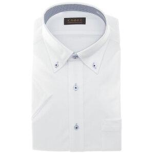 ワイシャツ ニット メンズ クールビズ 半袖 ノーアイロン 吸水速乾 消臭 ニットシャツ ビジネス シャツ 夏 シャツ カッターシャツ ボタンダウン 白 新生活 父の日