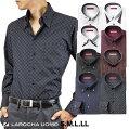 ワイシャツメンズ長袖形態安定ドレスシャツYシャツカッターシャツビジネスシャツビジネスシャツわいしゃつボタンダウンドゥエボットーニマイターカラーブラックレッドホワイトネイビー