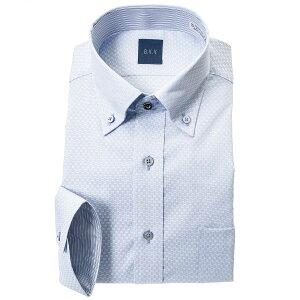 a.v.v ワイシャツ メンズ クールビズ 七分袖 7分袖 形態安定 吸水速乾 消臭 ボタンダウン ブルー ドビー ドレスシャツ Yシャツ カッターシャツ ビジネス シャツ avv アーベーベー 0622SS