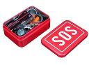 【送料無料】赤缶 サバイバルキット SOSキット 多用途工具セット エマージェンシーキット 6点セット 専用保管ケース付き