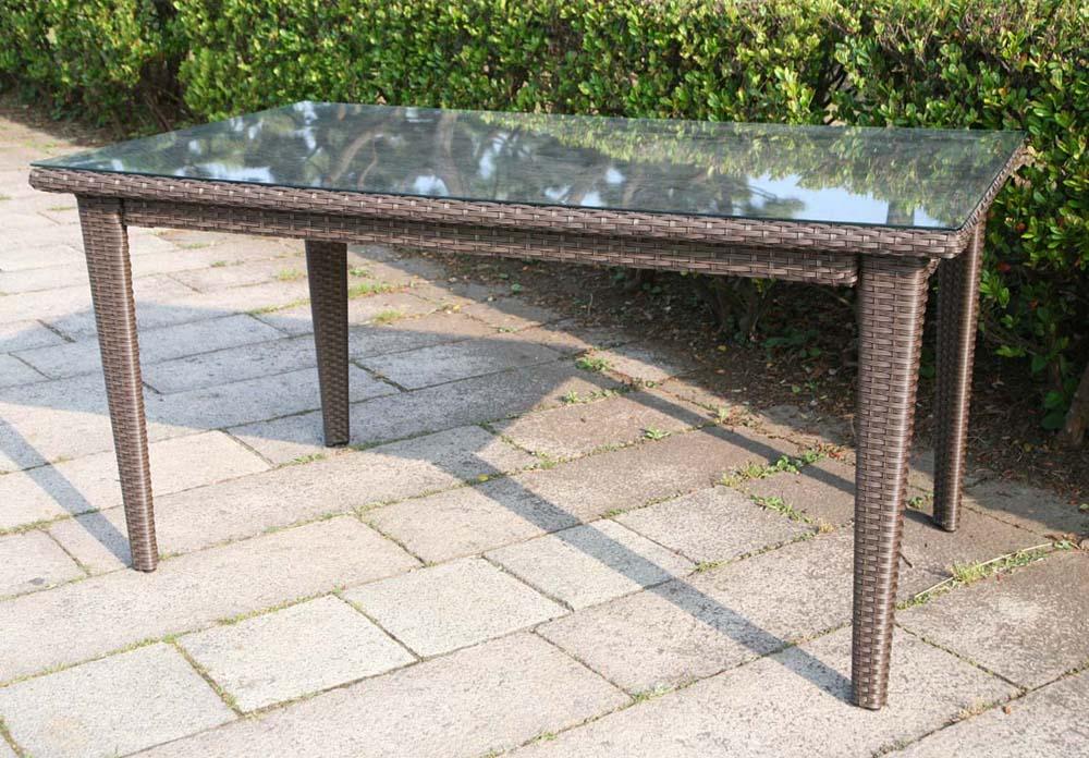 ラタン スクエアテーブル150【ガーデンテーブル・屋外家具】:サニーサイドガーデン
