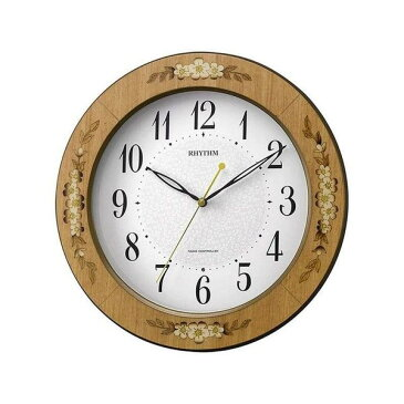 日用品雑貨 ユニセックス リズム RHYTHM アマービレM521 ユニセックス 掛け時計 8MY521SR06 ホワイト