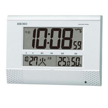 生活用品 セイコー SEIKO クロック 電波 掛け時計 プログラム機能付き SQ435W ホワイト