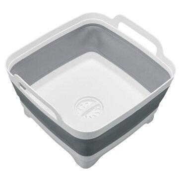 便利雑貨 排水できるモノトーン洗い桶