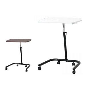 家具/収納ナカバヤシキャスターテーブル高さ可変タイプFDC-202(DM)ダーク木目