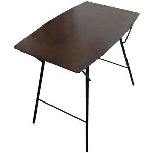 ルネセイコウトラスバレルテーブル750ダークブラウン/ブラック日本製完成品TBT-7550TD